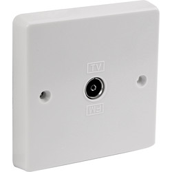 Crabtree Crabtree TV Socket 1 Gang - 76472 - from Toolstation