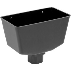 Aquaflow 112mm Hopper Black - 76483 - from Toolstation