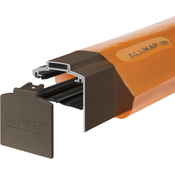 Alukap Alukap-XR Concealed Fix Gable Bar with Gasket Brown 4800mm - 76529 - from Toolstation