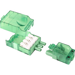 Green Lighting Screwless Terminal Push-on Mains Connector GL-MCSL 3 Way + Loop - 76571 - from Toolstation
