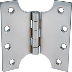 Steel Parliament Hinge Satin Chrome 102mm - 76597 - from Toolstation