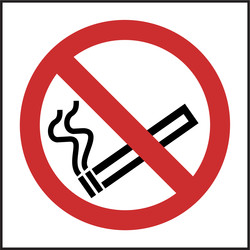 Prohibition Sign No Smoking 100x100 - 76646 - from Toolstation