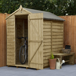 Forest Forest Garden Overlap Pressure Treated Shed - No Window 6' x 4' - 76830 - from Toolstation