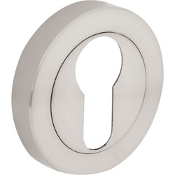 Hiatt Designer Euro Escutcheon Set Brushed Nickel - 76949 - from Toolstation