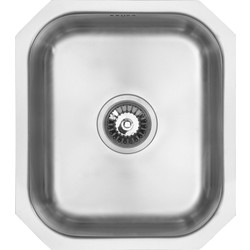 Maine Undermount Single Bowl Kitchen Sink 460 x 400 x 185mm Deep - 76977 - from Toolstation