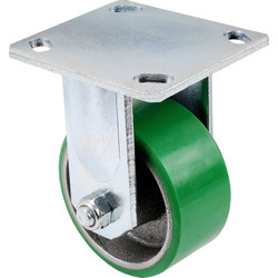 Unbranded Green Mould-On Poly Steel Hub Fixed 150mm - 77042 - from Toolstation