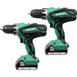 Hikoki Hikoki KC18DGL-JB 18V Li-Ion Cordless Combi & Drill Driver Twin Pack 2 x 1.5Ah - 77063 - from Toolstation