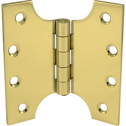 Steel Parliament Hinge Polished Brass 102mm - 77108 - from Toolstation