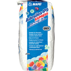Mapei Mapei Adesilex P9 Express Tile Adhesive 20kg Grey - 77113 - from Toolstation