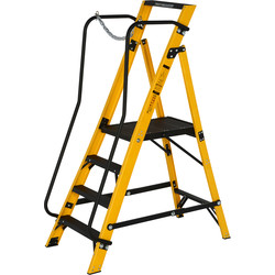 Youngman Youngman Fibreglass Megastep With Handrail 4 Tread SWH 2.6m - 77168 - from Toolstation
