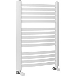 Ximax Ximax Windsor Designer Towel Radiator 765 x 480mm 1075Btu White - 77189 - from Toolstation