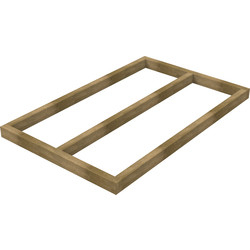 Forest Forest Garden Shed Base for Overlap Sheds 5' x 3' - 77209 - from Toolstation