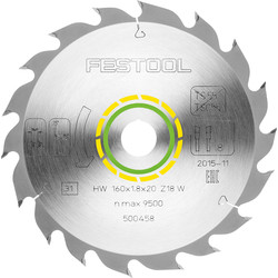Festool Festool HK(C)55 Saw Blade 160 x 1.8 x 20mm Standard - 77245 - from Toolstation