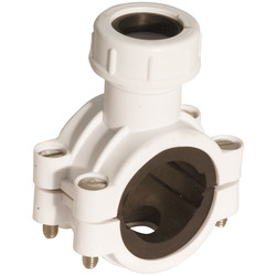 McAlpine McAlpine CLAMP1 Pipe Clamp White - 77260 - from Toolstation