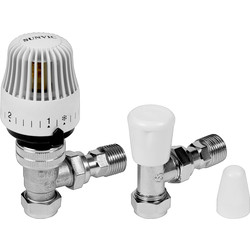 Sunvic Sunvic Angled TRV & Lockshield Pack 15mm White - 77290 - from Toolstation