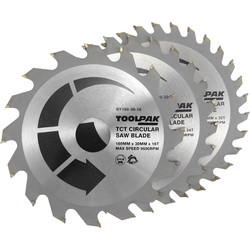 Toolpak Toolpak TCT Circular Saw Blades 160 x 30mm - 77366 - from Toolstation