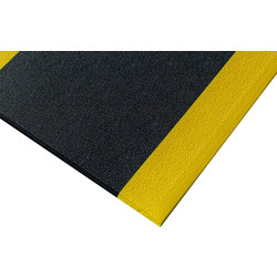 Blue Diamond Kumfi Pebble Foam Anti-Fatigue Mat 1.5m x 0.9m - Black/Yellow - 77589 - from Toolstation