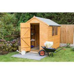 Forest Garden Shiplap Dip Treated Apex Shed 8 x 6ft