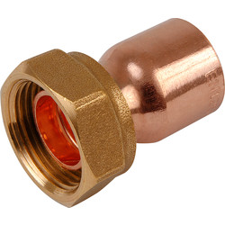 End Feed Straight Tap Connector 15mm x 3/4""