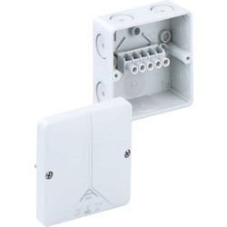 Junction Boxes IP65 With 5 Pole Term Block - 77753 - from Toolstation
