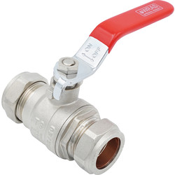 Made4Trade Made4Trade Lever Ball Valve 22mm Red - 77755 - from Toolstation
