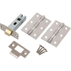 Latch Pack Polished Chrome - 77782 - from Toolstation