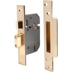 Yale BS 5 Lever Mortice Sashlock 64mm Polished Brass - 77835 - from Toolstation