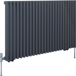 Kudox Kudox Xylo Anthracite Designer Radiator 600 x 980mm 3211Btu - 77875 - from Toolstation