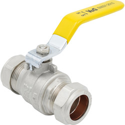 Made4Trade Made4Trade Gas & Water Lever Ball Valve PN25 22mm - 77906 - from Toolstation