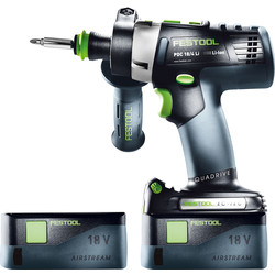 Festool Festool PDC 18/4 18V Li-Ion Cordless Combi Drill 2 x 5.2Ah - 77913 - from Toolstation