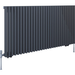 Kudox Kudox Xylo Anthracite Designer Radiator 600 x 1180mm 3866Btu - 77991 - from Toolstation