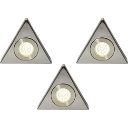 Culina Fonte 240V LED Triangle Under Cupboard Light 3 x 1.5W 140lm lights - 77993 - from Toolstation