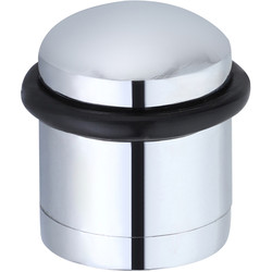 Unbranded Cylinder Door Stop Polished Chrome - 78008 - from Toolstation
