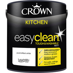 Crown Crown Breatheasy Kitchen Emulsion Paint 2.5L Pure Brilliant White - 78035 - from Toolstation