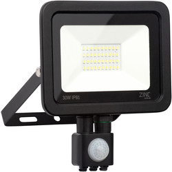 Zinc Slimline LED PIR Floodlight IP65 30w 2400lm