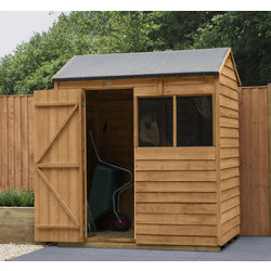 Forest Garden Overlap Dip Treated Reverse Apex Shed 6 x 4ft