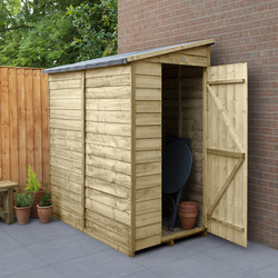 Forest Forest Garden Overlap Pressure Treated Shed - No Window 6' x 3' - 78106 - from Toolstation