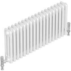 Tesni Oza 3 Column Horizontal Designer Radiator 600 x 1012mm 4565Btu White