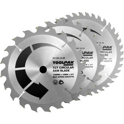 Toolpak Toolpak TCT Circular Saw Blades 190 x 16mm - 78148 - from Toolstation