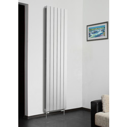 Tesni Eve Double Panel Vertical Designer Radiator 1200 x 578mm 4214Btu White