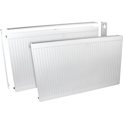 Barlo Delta Radiators Barlo Delta Compact Type 22 Double-Panel Double Convector Radiator 400 x 800mm 3794Btu - 78358 - from Toolstation