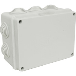 Moulded Enclosure IP55 150 x 110 x 70mm - 10 Entries - 78390 - from Toolstation