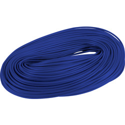 Unbranded PVC Cable Sleeving 100m 3mm Blue - 78472 - from Toolstation