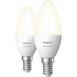 Philips Hue Philips Hue White Bluetooth Lamp E14 - 78490 - from Toolstation