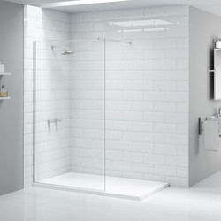 Merlyn NIX  Merlyn NIX Wet Room Shower Screen 1000mm - 78505 - from Toolstation