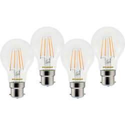 Sylvania Sylvania LED RT A60 Filament Clear GLS Lamp 4.5W BC (B22) 470lm - 78564 - from Toolstation