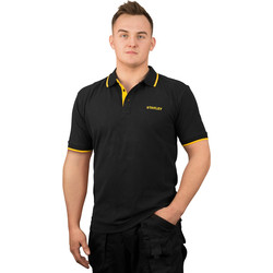 Stanley Stanley Texas Polo Shirt Medium Black - 78591 - from Toolstation