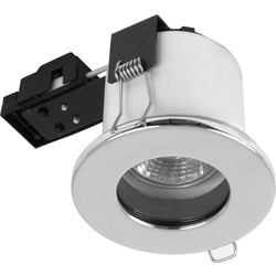 Sylvania Sylvania Fire Rated Fixed IP65 GU10 Downlight Polished Chrome - 78640 - from Toolstation