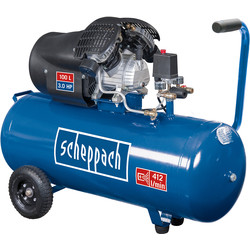 Scheppach Scheppach HC100DC 100L 3.0 HP Pro Twin Cylinder Air Compressor 230V - 78644 - from Toolstation