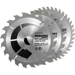 Toolpak Toolpak TCT Circular Saw Blades 184 x 30mm - 78836 - from Toolstation